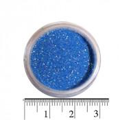 Блестки (песок) для декора ногтей в баночке 05 васильковый