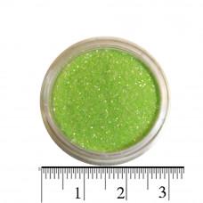 Блестки лайм (песок) для декора ногтей в баночке