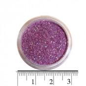 Блестки (песок) для декора ногтей в баночке 27 сиреневые