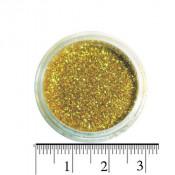 Блестки (песок) для декора ногтей в баночке 43 светло-золотые