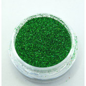 Голографические блестки (песок) для ногтей в баночке 04 зеленый
