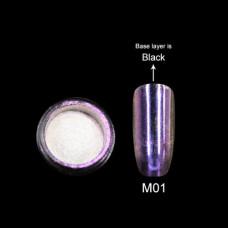 Зеркальная втирка Canni Metallic Powder сиреневая M01 2г