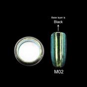 Зеркальная втирка Canni Metallic Powder бирюза M02 2г