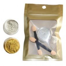 Зеркальная втирка Metallic Powder серебряная 1г