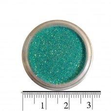 Бирюзовые блестки (песок) для декора ногтей в баночке