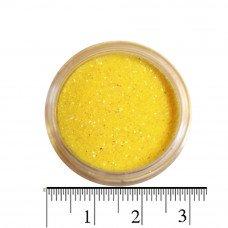 Желтые блестки (песок) для декора ногтей в баночке
