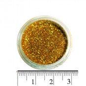 Блестки (песок) для декора ногтей в баночке 12 золотые