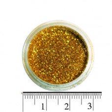 Золотые блестки (песок) для декора ногтей в баночке