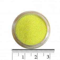 Блестки лимонные (песок) для декора ногтей в баночке