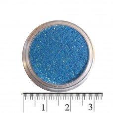 Блестки сине-небесные (песок) для декора ногтей в баночке