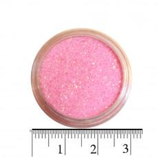 Розовые неоновые блестки (песок) для декора ногтей в баночке