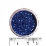 Блестки (песок) для декора ногтей в баночке 29 синие