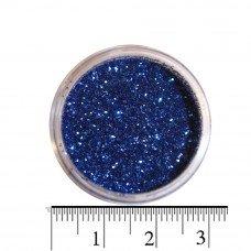 Синие блестки (песок) для декора ногтей в баночке