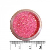 Блестки (песок) для декора ногтей в баночке 34 ярко-розовые