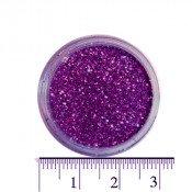 Блестки (песок) для декора ногтей в баночке 44 фиолетовые