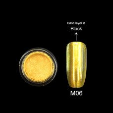 Зеркальная втирка Canni Metallic Powder золотая M06 2г