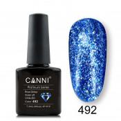 Гель-лак Canni Platinum 492 Блестящий синий