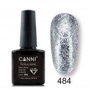 Гель-лак Canni Platinum 484 Мерцающий серебряный