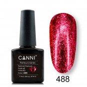 Гель-лак Canni Platinum 488 Темно-красный
