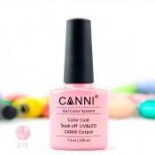 Гель-лак Canni 216 Розовый с голографическими блестками 7,3 мл