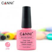 Гель-лак Canni 246 пудровый персиковый 7,3 мл