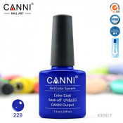 Гель-лак Canni 229 Синий электрик 7,3 мл
