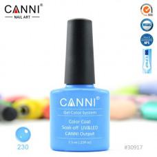 Гель-лак Canni 230 Классический голубой 7,3 мл
