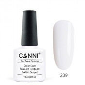 Гель-лак Canni 239 белый молочный 7,3 мл