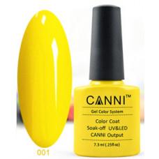 Гель-лак Canni 001 Желтый 7,3 мл