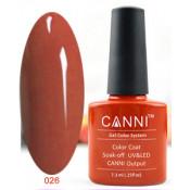 Гель-лак Canni 026 Красно-оранжевый 7,3 мл