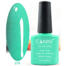 Гель-лак Canni 078 Светло-зеленый 7,3 мл