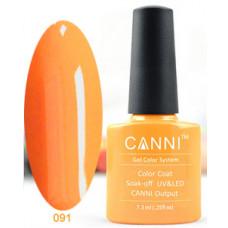 Гель-лак Canni 091 Ярко-оранжевый, неоновый 7,3 мл