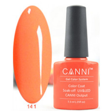 Гель-лак Canni 141 Яркий красно-оранжевый 7,3 мл