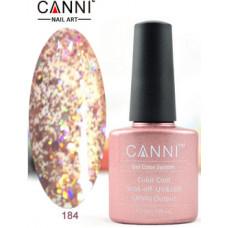Гель-лак Canni 184 Розовый, блестящий 7,3 мл