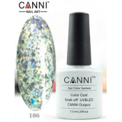 Гель-лак Canni 186 Серебристый, блестящий 7,3 мл