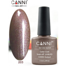 Гель-лак Canni 203 Кофейный жемчуг 7,3 мл