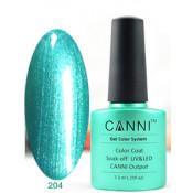 Гель-лак Canni 204 Аквамариновый блестящий 7,3 мл