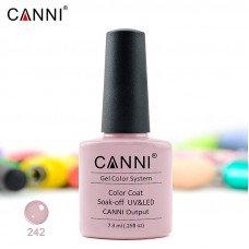 Гель-лак Canni 242 серо-розовый пудровый 7,3 мл