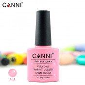 Гель-лак Canni 245 припыленный розовый 7,3 мл