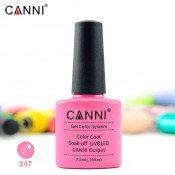 Гель-лак Canni 247 натуральный розовый 7,3 мл