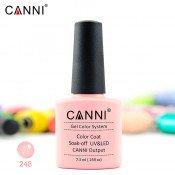 Гель-лак Canni 248 розово-абрикосовый 7,3 мл