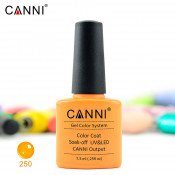 Гель-лак Canni 250 яркий оранжевый 7,3 мл