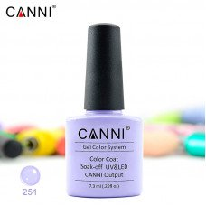 Гель-лак Canni 251 нежно-лавандовый 7,3 мл