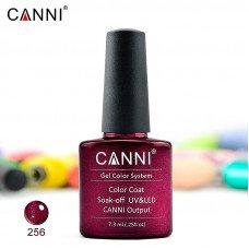 Гель-лак Canni 256 винный с микроблеском 7,3 мл