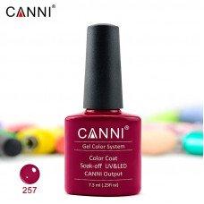 Гель-лак Canni 257 вишневый 7,3 мл