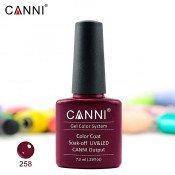 Гель-лак Canni 258 насыщенный винный 7,3 мл