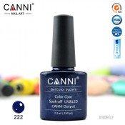 Гель-лак Canni 222 Глубокий синий с мелкими синими блесками 7,3 мл