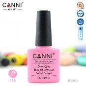 Гель-лак Canni 236 Светлый сиренево-розовый 7,3 мл