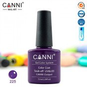 Гель-лак Canni 225 Пастельный глубокий фиолетовый 7,3 мл