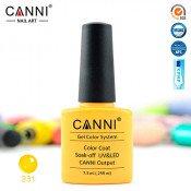 Гель-лак Canni 231 пастельный желтый 7,3 мл